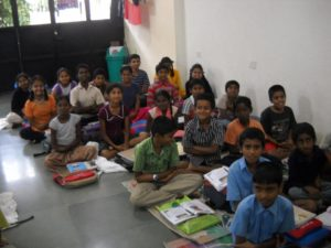 Professionals teaching in Abhudaya free learning centers